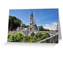 Rosary Basilica, Lourdes, France Greeting Card
