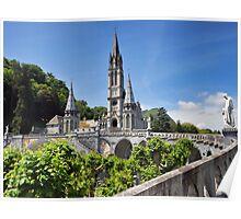 Rosary Basilica, Lourdes, France Poster