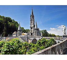 Rosary Basilica, Lourdes, France Photographic Print