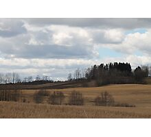 Farm land. Spring time. Ås, akershus, Norway. Photographic Print