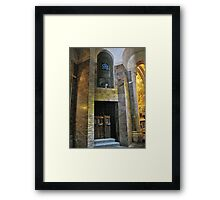 Inside the Rosary Basilica, Lourdes Framed Print