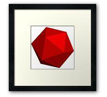 Red D20 Framed Print