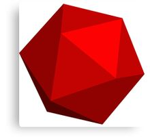 Red D20 Canvas Print