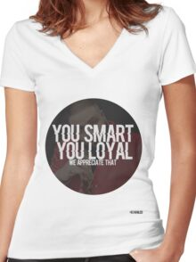 DJ KHALED - YOU SMART Women's Fitted V-Neck T-Shirt