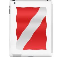 Diver down flag iPad Case/Skin