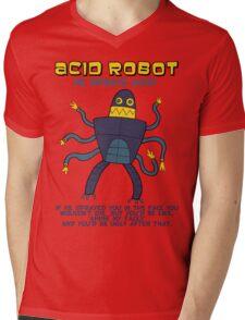 Acid robot - he sprays acid! -- colour Mens V-Neck T-Shirt