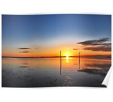Sunrise above Lake Grevelingen Poster