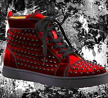 Red Spike Sneaker by Arts4U