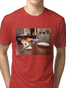 Hamtaro on my desk Tri-blend T-Shirt