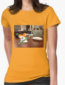 Hamtaro on my desk Womens Fitted T-Shirt