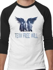 Team Free Will in BLUE Men's Baseball ¾ T-Shirt