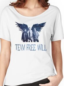 Team Free Will in BLUE Women's Relaxed Fit T-Shirt