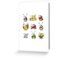 Cartoon insects Greeting Card