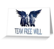 Team Free Will in BLUE Greeting Card