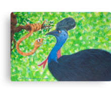 Taipan meets Cassowary Canvas Print
