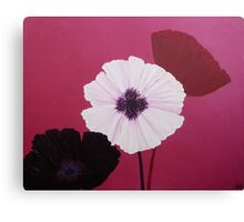 Ornamental Poppies in Pink Canvas Print