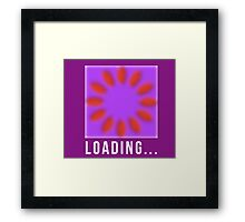Loading, motion illusion, cool. Framed Print