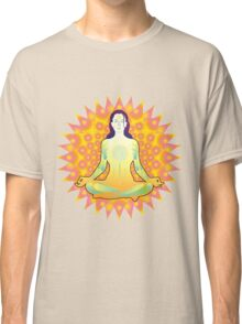 Young woman practicing meditation 1 Classic T-Shirt