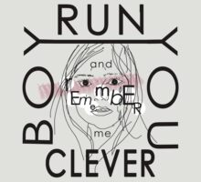 Doctor Who tee | Clara quote | Run you clever boy... by obsessivegeek