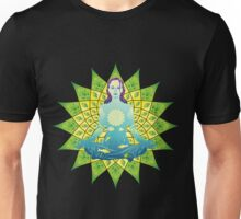 Young woman practicing meditation 4 Unisex T-Shirt