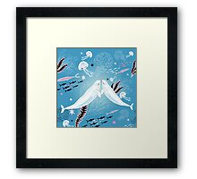 narwhal whale lovers Framed Print