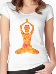 Young woman practicing meditation 7 Women's Fitted Scoop T-Shirt