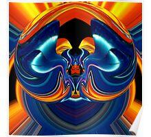 contemporary techno art 1028 Poster