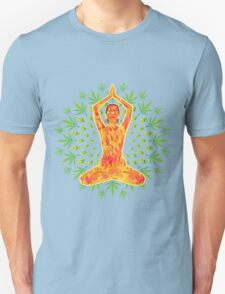 Young woman practicing meditation 8 Unisex T-Shirt