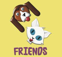 Hound Dog and Pussy Cat Friends T-shirt Kids Clothes