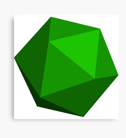 Green D20 Canvas Print