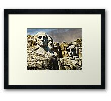 Presidential Rocks Framed Print