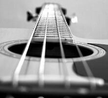 Bass Guitar black and white by Paul Madden