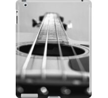 Bass Guitar black and white iPad Case/Skin