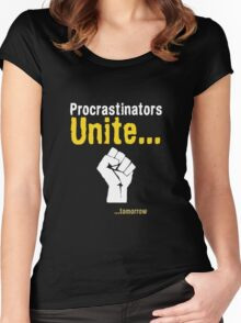 Procrastinators unite... tomorrow Women's Fitted Scoop T-Shirt