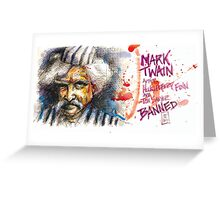 Mark Twain, Banned Author Greeting Card