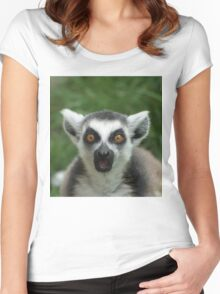 shocked lemur Women's Fitted Scoop T-Shirt