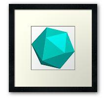 Light Blue D20 Framed Print