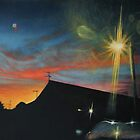 Suburban Sunset Oil on Canvas by daverives