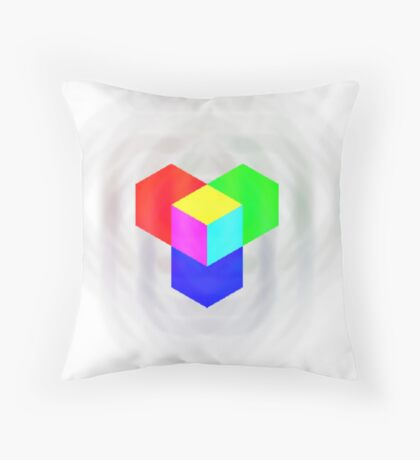 RGB - Cube Throw Pillow