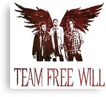 Team Free Will in RED Canvas Print