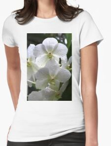 Orchid Beauty in White T-Shirt