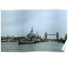 HMS Belfast Poster