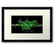 GREEN TRIFORCE Framed Print