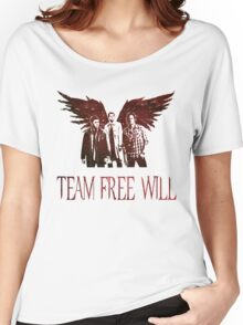 Team Free Will in RED Women's Relaxed Fit T-Shirt