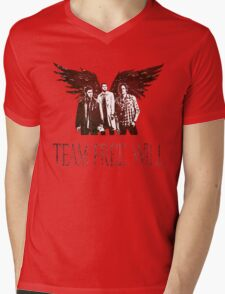 Team Free Will in RED Mens V-Neck T-Shirt