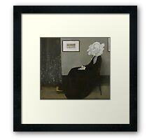 Whistler's Mother - Mr. Bean Framed Print