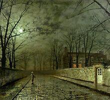 Silver Moonlight, 1880 (oil on canvas) by Bridgeman Art Library