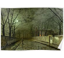 Silver Moonlight, 1880 (oil on canvas) Poster