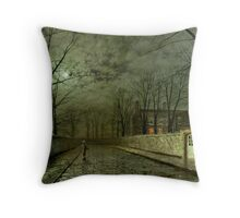 Silver Moonlight, 1880 (oil on canvas) Throw Pillow