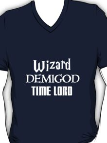 Fandoms: Wizard, Demigod, Time Lord T-Shirt